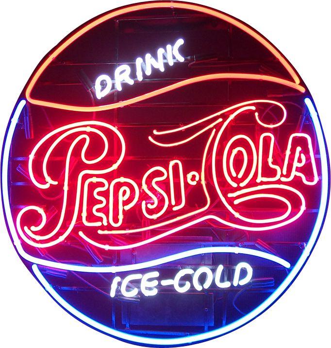 Pepsi Cola Soda Neon Sign