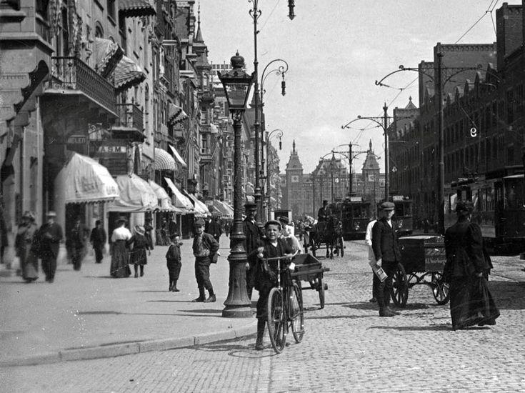 Amsterdam Damrak, 1910