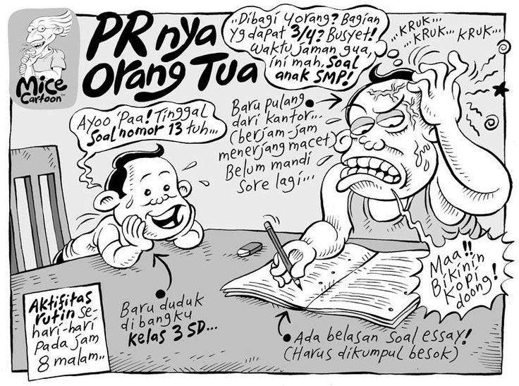 Mice Cartoon, Kompas 9 Maret 2014: PR-nya Orang Tua