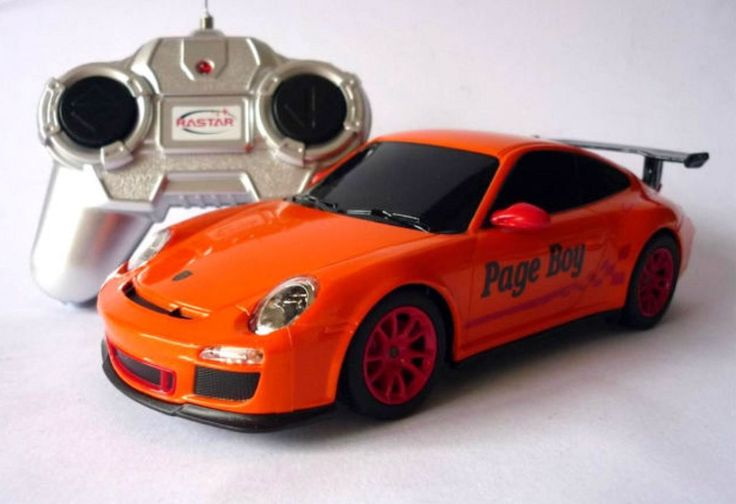 Wedding Day Gift Personalised Page Boy Name Orange 1/24 RADIO CONTROL PORSCHE Car Toy