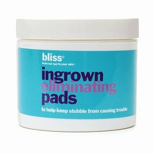 Bliss Ingrown Eliminating Pads - 50 Pads - This Pads helps tackle hair raising lumps and bumps with alpha and beta hydroxy acids. Soaked in antioxidant green tea and soothing, smoothing oat extract, they'll get to the root of your ingrown issues.