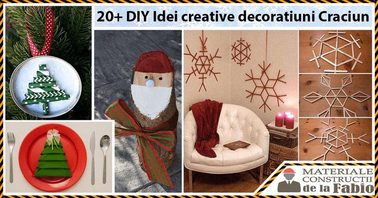 20+ Idei Creative pentru decoratiunile de Craciun