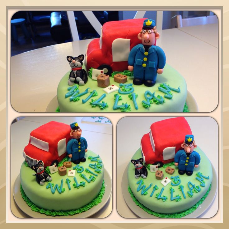 Postmann Pat cake for a 3 year old boy
