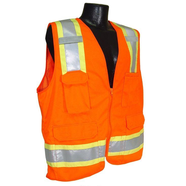 Radians sv6o type r class 2 twotone surveyor safety vest