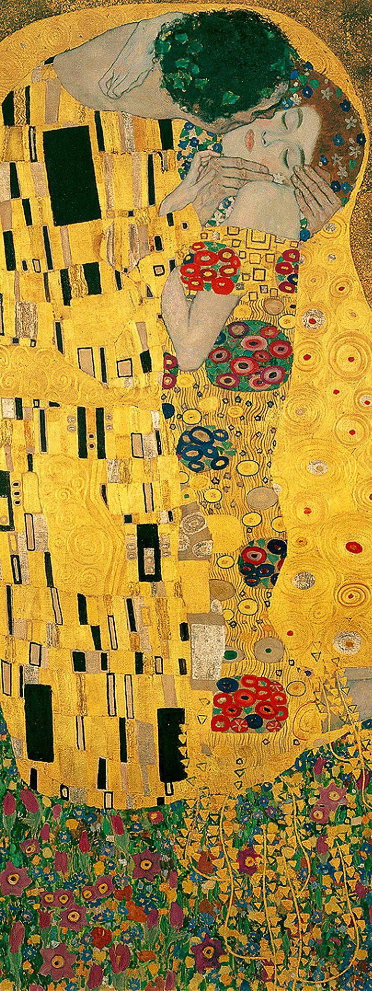 Gustav Klimt 'The Kiss' detail, between 1907-08 Österreichische Galerie Belvedere, Vienna