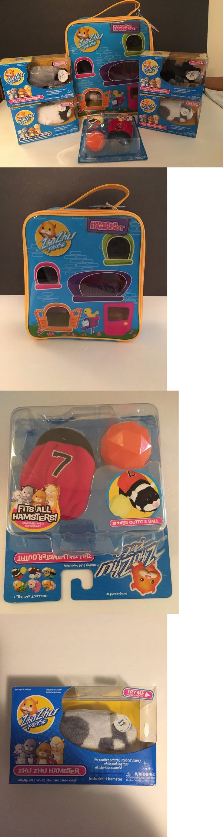 Zhu Zhu Pets 171529: Zhu Zhu Pets Lot Hamster Hangout Case Nwt 1 Outfit And 4 Hamsters New In Box -> BUY IT NOW ONLY: $30 on eBay!