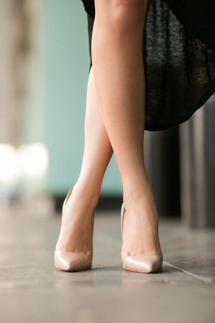 Sexy Nude Heels - Qu Heel