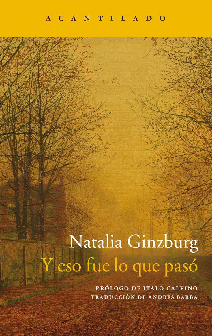 Una confesión punzante y lúcida, una lectura dura, pero de gran belleza. http://www.acantilado.es/catalogo/y-eso-fue-lo-que-pas-761.htm http://rabel.jcyl.es/cgi-bin/abnetopac?SUBC=BPSO&ACC=DOSEARCH&xsqf99=1836966+