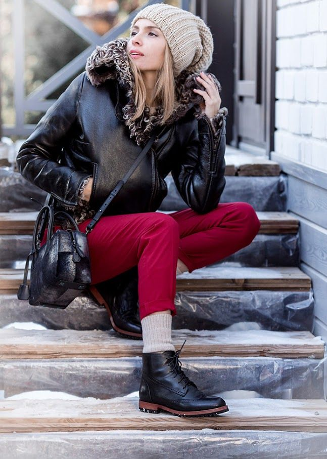 Черные ботинки для зимы Paolo Conte.