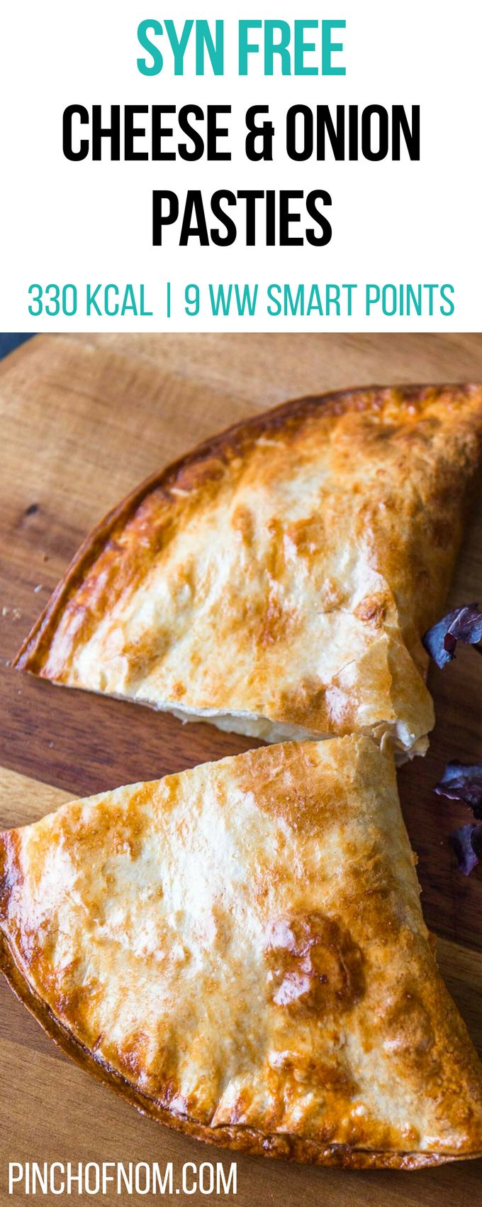 Syn Free Cheese & Onion Pasties | Pinch Of Nom Slimming World Recipes 330 kcal | Syn Free | 9 Weight Watchers Smart Points