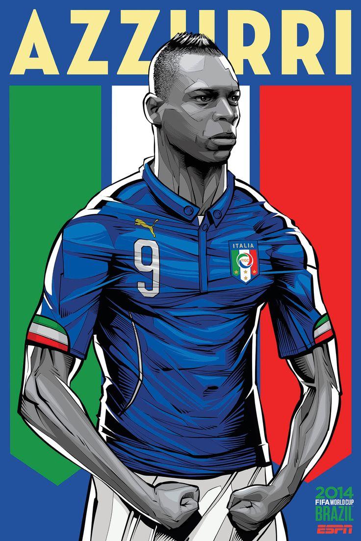 Os pósteres que a ESPN fez para as equipas do Mundial 2014