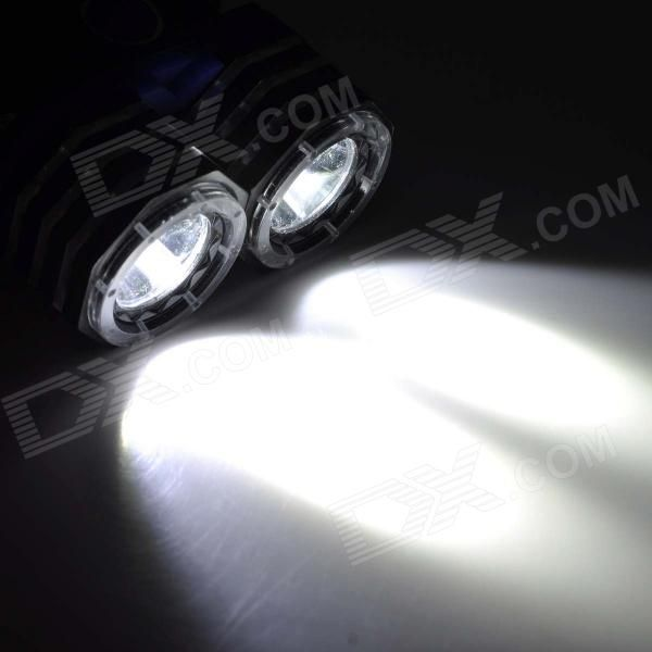 K83-2T6 900lm 3-Mode White Light Headlamp w/ 2 x Cree XM-L2 T6 - Blue + Black (2 x 18650)