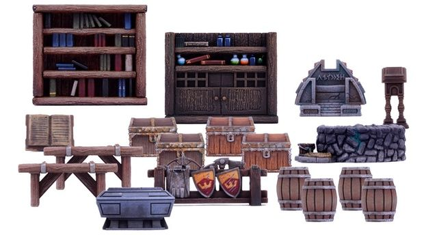 Dungeon Saga: The Dwarf King's Quest by Mantic Games — Dungeon Furniture