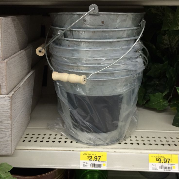 @kayla4452 @mlp94  Some larger buckets for the low country boil tails and shells to place on tables?
