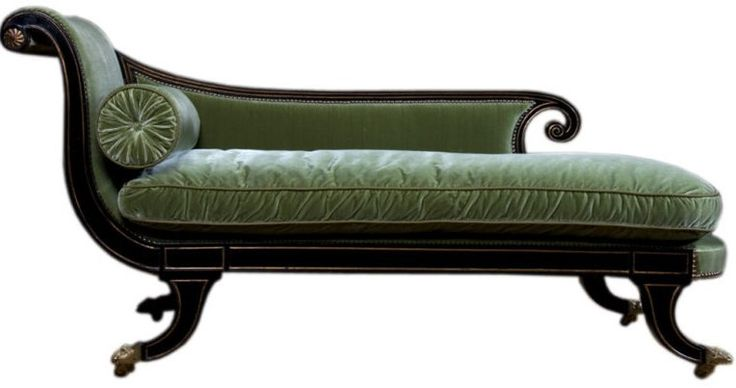 Green.: Lounges Chairs, Antiques Chai Lounges, Chaise Lounges, Regency Furniture, Google Search, Decoration Idea, Classic Chai, Studios Couch, Regency Lounges