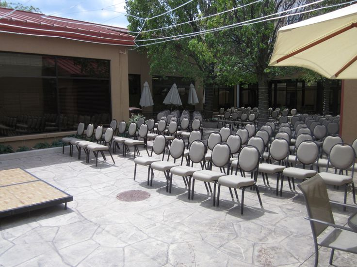 A Great View Of Our Outdoor Wedding Setup