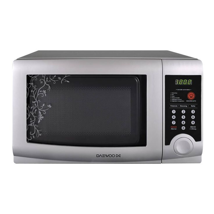 799 pesos - Daewoo Microwave Oven 0.6 Cubic Feet Silver Model KOR-6LZSA