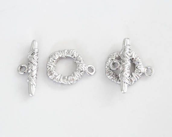 2858 Toggle jewelry clasps 16x12 mm Round toggle clasps