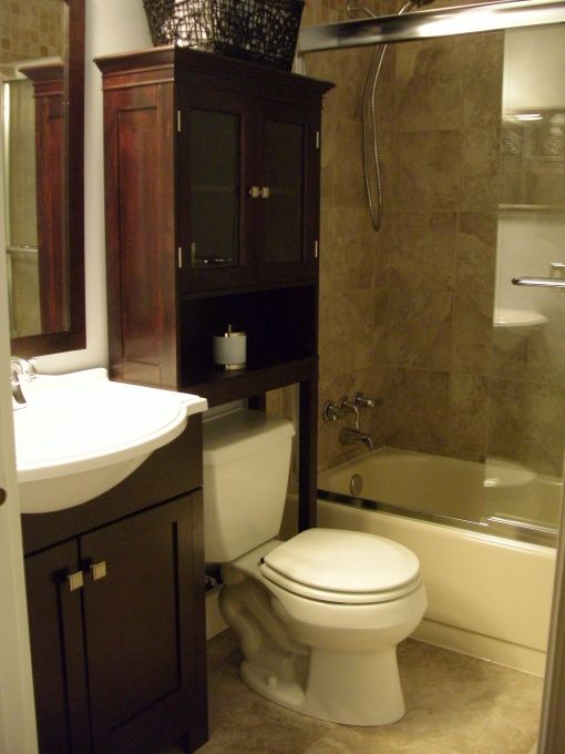 Starting to put together bathroom ideas good storage for Small bathroom renovations pictures