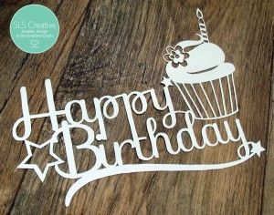 Happy Birthday SLS Creative! - Free Paper Cut Template