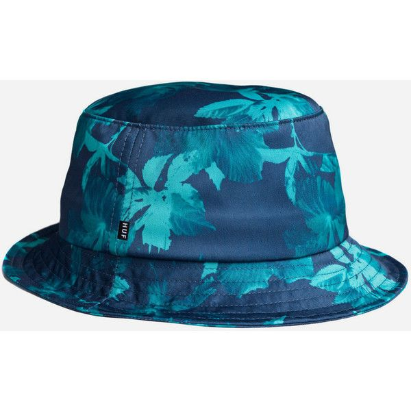 Huf Floral Bucket Hat - Navy ($60) ❤ liked on Polyvore featuring accessories, hats, bucket hat, navy, navy hat, huf, navy blue hat, huf hats and fisherman hat