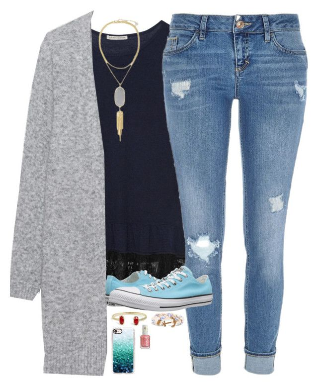 """""""We won our basketball game today!"""" by sweet-n-southern ❤ liked on Polyvore featuring Autumn Cashmere, Kendra Scott, Acne Studios, River Island, Converse, Casetify, Brooks Brothers and Essie"""