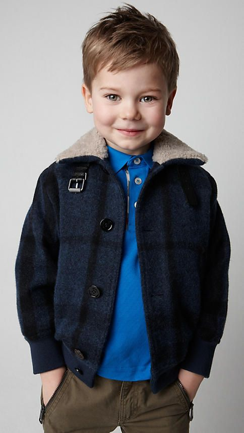 is there anything cuter than a little burberry boy? This could be a cute hairdo for Merrik!