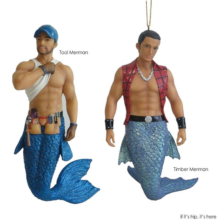 Just What Every Christmas Tree Needs: A Merman Ornament