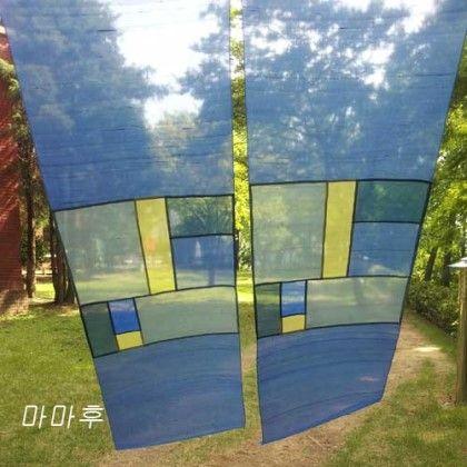 규방공예 : 푸른빛의 옥사 가리개 : 네이버 블로그