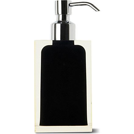 this sleek soap dispenser from west one bathrooms is made from resin making it hardy