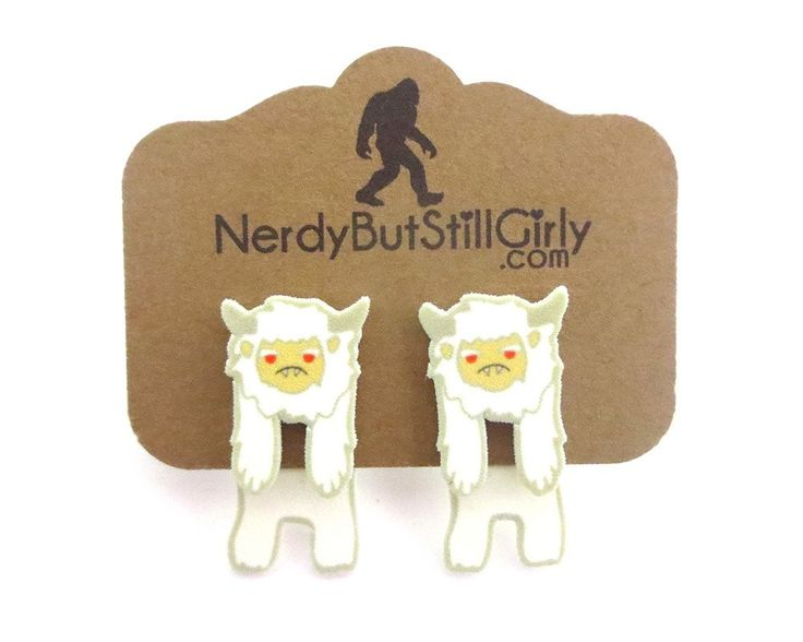 Cryptozoology (Abominable Snowman) Cling Earring