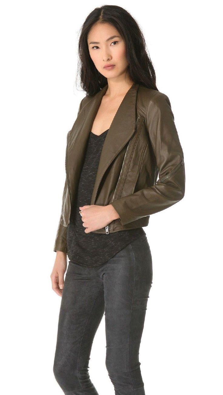 Leather jacket yahoo answers - Size L Helmut Lang Ammo Somber Green Washed Moto Leather Jacket Ebay