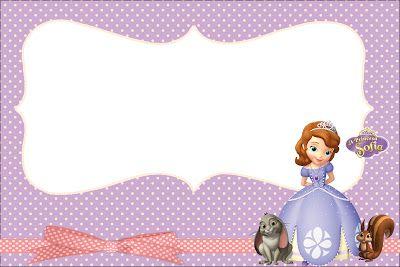 Princesa Sofía: invitaciones para imprimir gratis e imágenes.