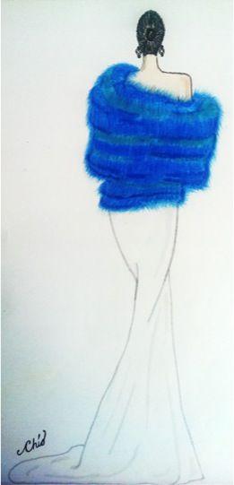 Dibujo de figurin-textura pelo
