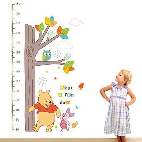Best Clest F uH Winnie The Pooh Messung der H he Wandtattoo Wandaufkleber for Kinderzimmer Dekoration Baby Kindergarten