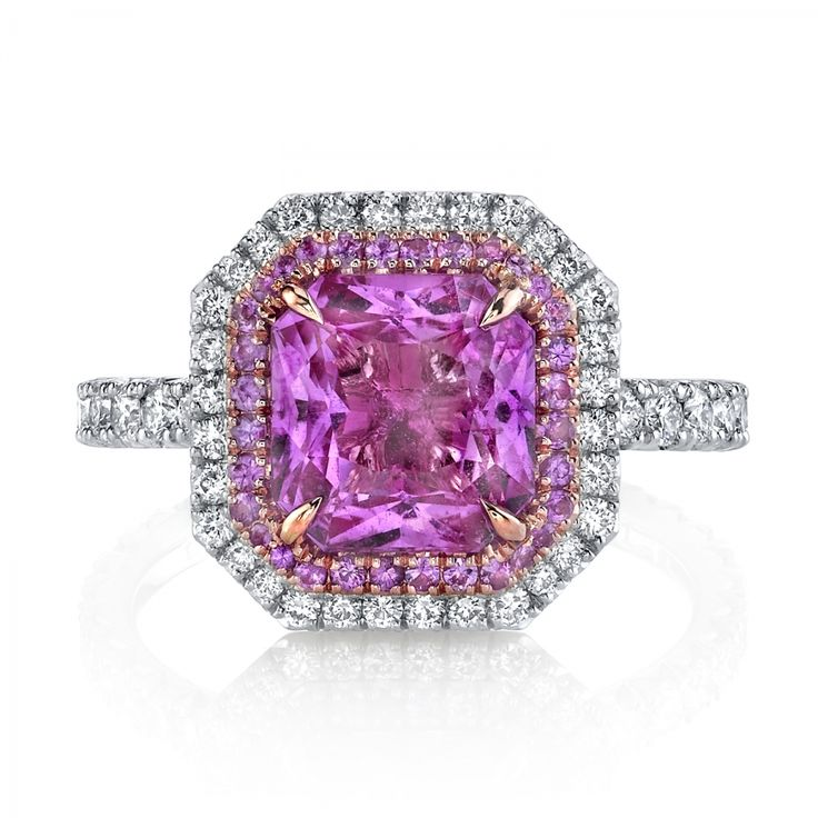 Omi Prive: Pink Sapphire and Diamond Ring
