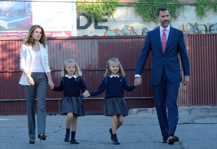 Spanish royalty--Prince Felipe, Princess Letizia and daughters Leonor 6y & Sofia 5y