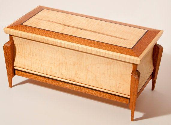 Wood Keepsake Box / Jewelry Box by WoodcraftByBenjamin on Etsy, $125.00
