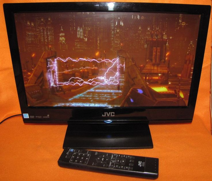 JVC 19 INCH LED LCD TV BUILT IN DVD PLAYER WITH REMOTE LT-19DE62 #JVC