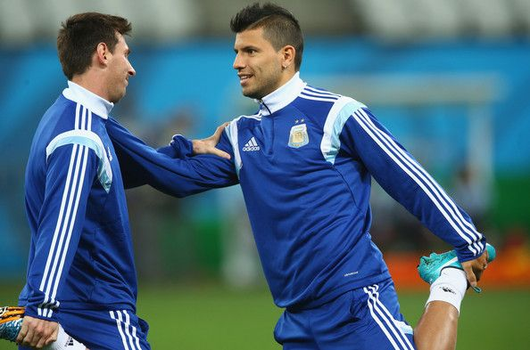 Sergio Aguero Photos: Argentina Training Session