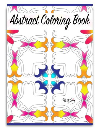 Cute Printable Abstract Coloring Book for Adults