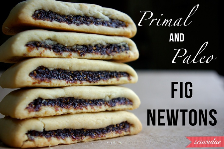 Primal/Paleo Fig Newtons made with almond flour and