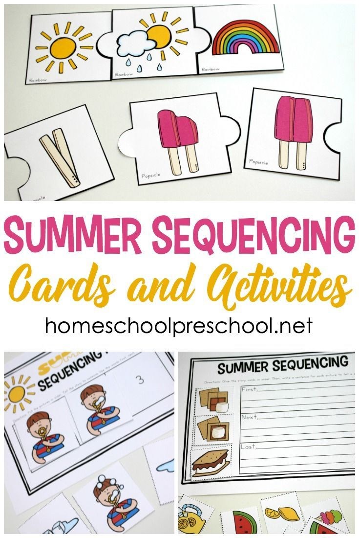 picture about Free Printable Sequencing Cards known as No cost Printable Summer season Sequencing Playing cards for Preschoolers