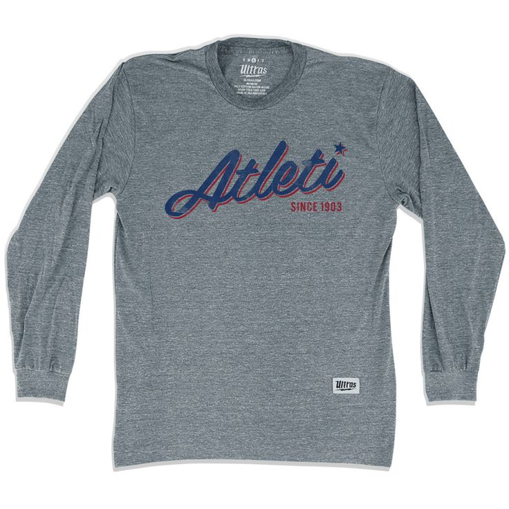 Atletico Madrid Atleti Soccer Long Sleeve T-Shirt