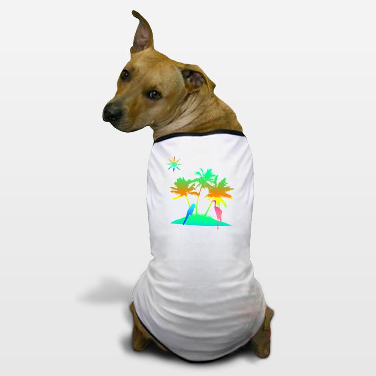 Shop for unique nursery art like the paradise Dog T-Shirts by haroulita on BoomBoomPrints today!  Customize colors, style and design to make the artwork in your baby's room their own!