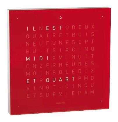 Biegert&Funk Qlocktwo touch - französisch - Wecker - rot Jetzt bestellen unter: https://moebel.ladendirekt.de/dekoration/uhren/wecker/?uid=4121469a-e9cd-5e83-9b65-4cba94519db2&utm_source=pinterest&utm_medium=pin&utm_campaign=boards #uhren #wecker #dekoration