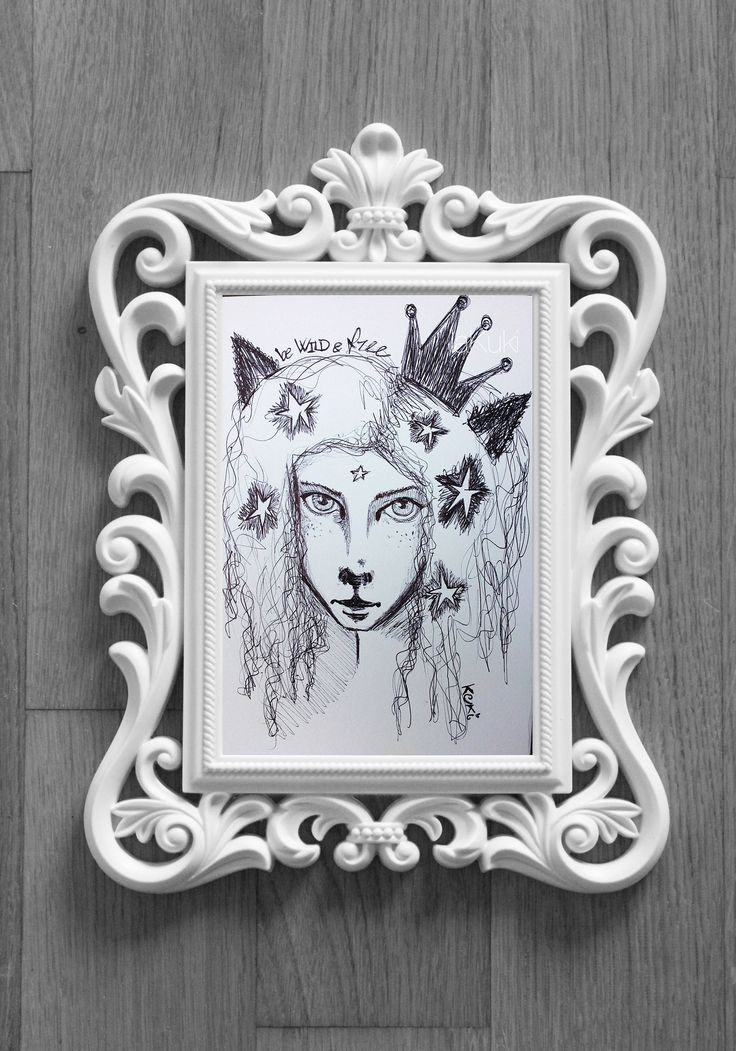 """Ragazza Leone """"libera selvaggia"""" disegno bic, schizzo biro, disegno ragazza leonessa, leone antropomorfo, arte bizzarra, arte motivazionale di laKuki su Etsy"""