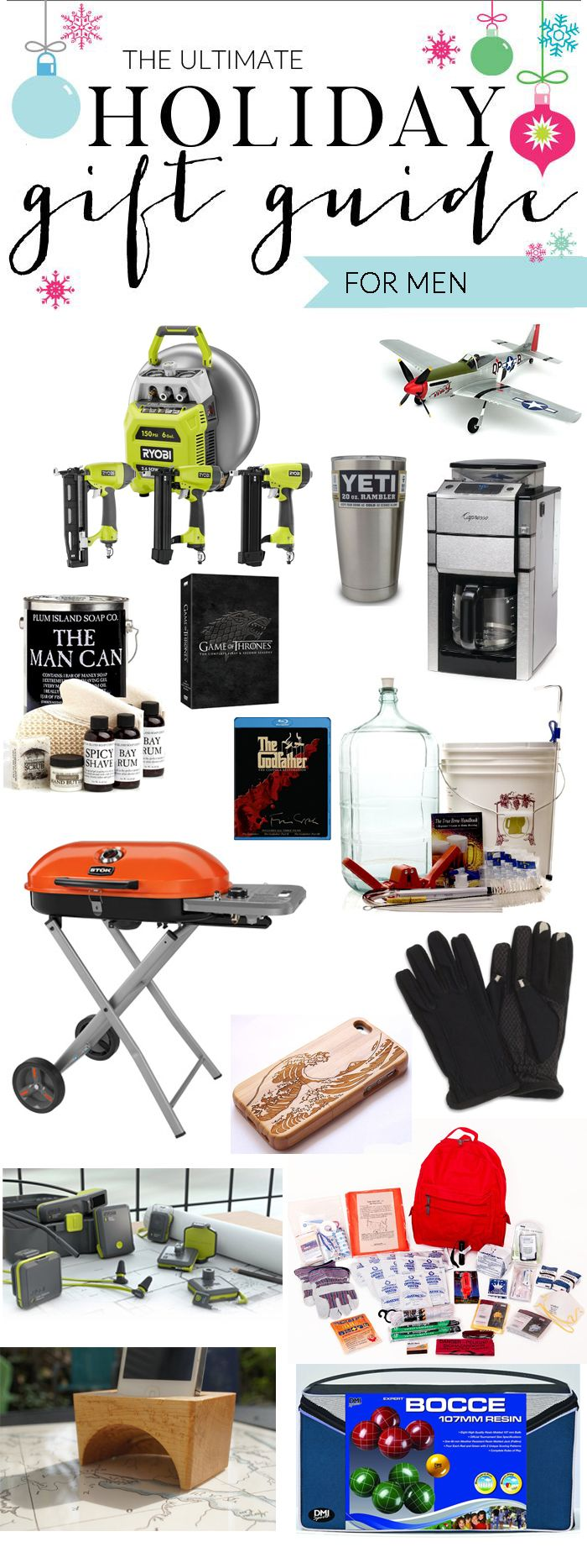 the ultimate holiday gift guide for men - gifts for all budgets!