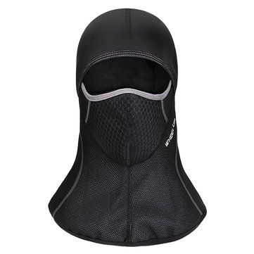 Mens Winter Warm Fleece Full Hood Face Mask Windproof Dustproof Head Cover Neck Waterproof Hat