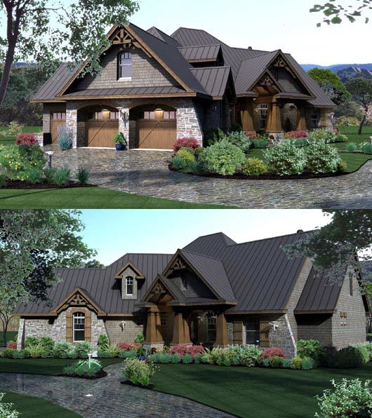 33 best images about golf course house plans on pinterest for Country craftsman house plans